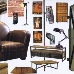 planche tendance style industriel decoration interieur gers