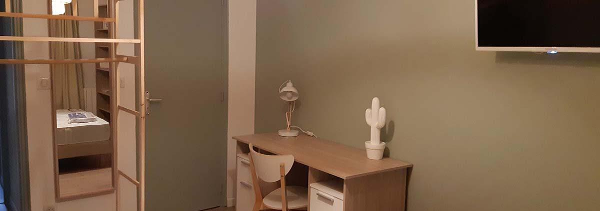 photo d'un bureau dans un espace en colocation